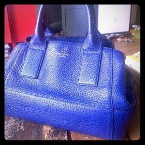 Kate Spade Ocean Blue Pebbled Leather Handbag